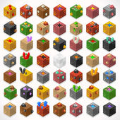 Mine Cubes 02 Elements Isometric