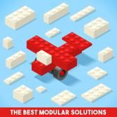 Toy Block Plane Games Isometric