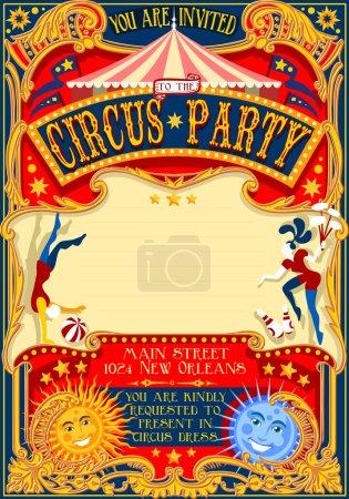 Circus 01 Invitation Vintage 2D