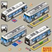 Bus Set 03 Vehicle Isometric