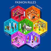 Fashion 01 Cells Isometric