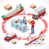 Delivery 02 Infographic Isometric
