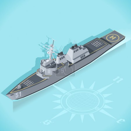 Destroyer 01 Vehicle Isometric