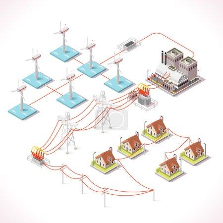 Energy 16 Infographic Isometric