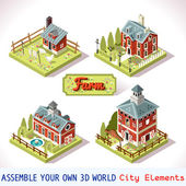 Farm Tiles 02 Set Isometric