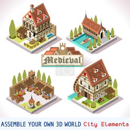 Medieval 03 Tiles Isometric