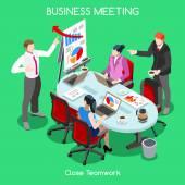 Business Room 04 People Isometric