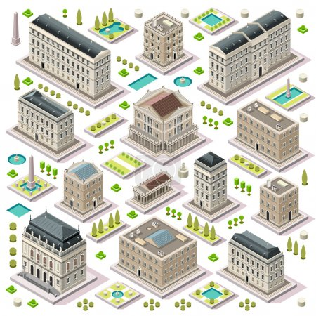 City Map Set 05 Tiles Isometric