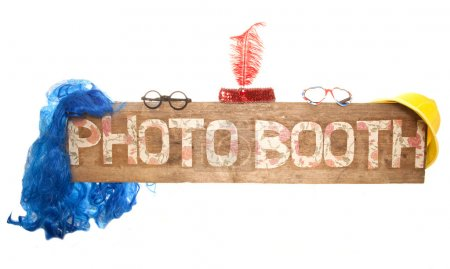 Photo for Rustic floral photo booth sign - Royalty Free Image
