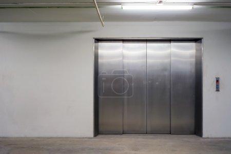 Door of Freight elevators in modern building.