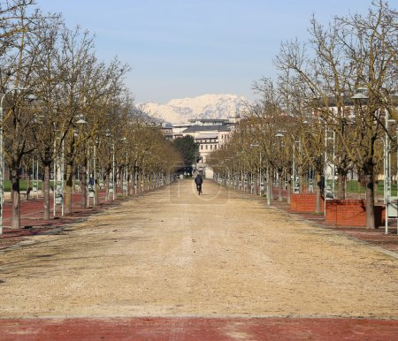 long Avenue in the public park called CAMPO MARZO in Vicenza