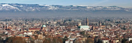 Vicenza, Italy, panorama with Basilica Palladiana and the Cathed