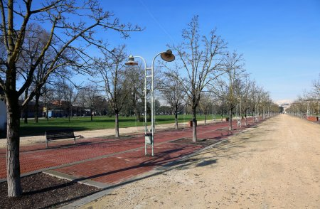 long Avenue in the public park called CAMPO MARZO in Vicenza, It