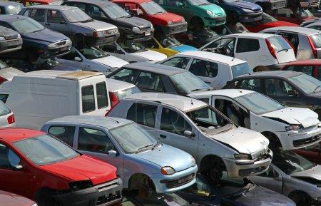 cars destroyed in the workshop car demolition