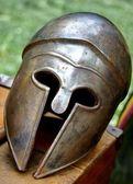 ancient Roman helmets of brave roman soldier