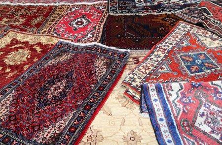 Photo pour Fine Oriental rugs Handmade wool for sale in the shop - image libre de droit