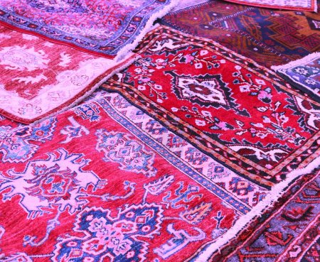 carpets decorated in an islamic home