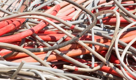 Electrical wires and other lengths of copper wire in the dump of
