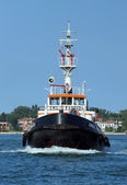 Venice, VE - Italy. 14th July, 2015:  tugboat used to drive larg