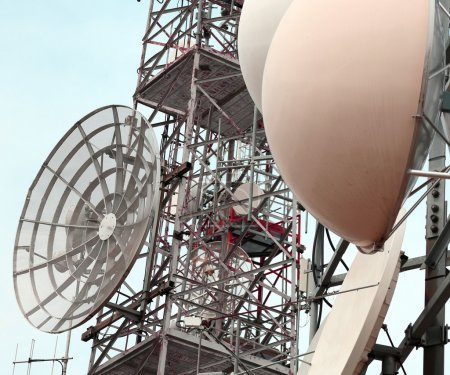 antennas and repeaters of television and telephone signals