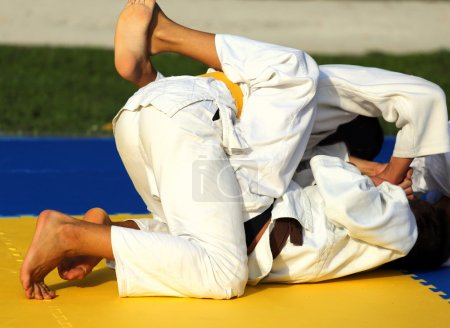 martial arts combat during the sporting event