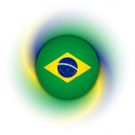 Brazilian badge on background