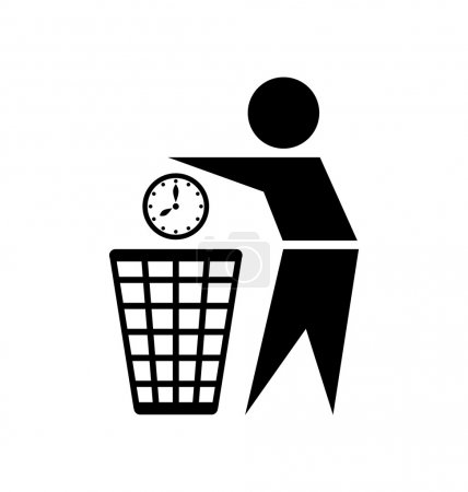 Illustration for Do not waste your time icon on white background - Royalty Free Image