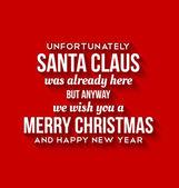 Santa Claus was here card