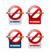 No smoking prohibition signs on white background