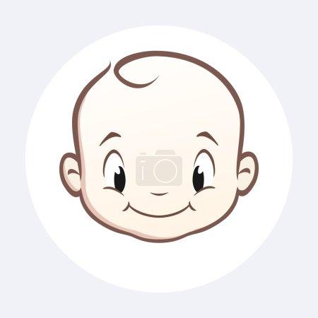 Illustration pour Visage de bébé vecteur de bande dessinée pour élément de conception - image libre de droit