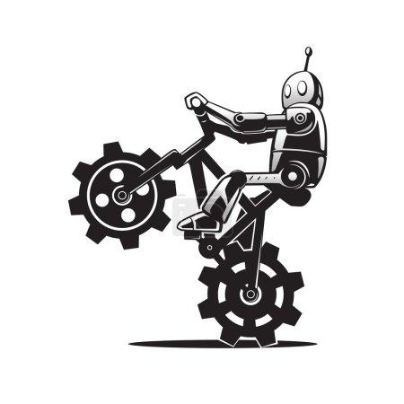 Robot on bicycle