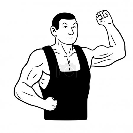 Illustration for This is a vector illustration of strongman - Royalty Free Image
