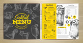 Vintage cocktail menu design
