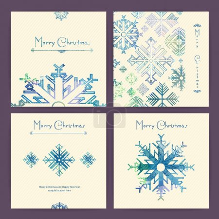 Set of holiday Christmas cards
