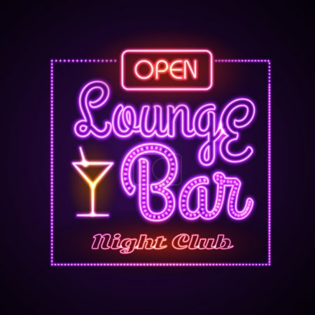 Neon sign. Lounge bar
