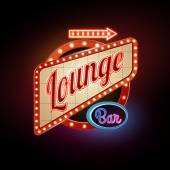 Neon sign Lounge bar