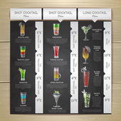 Vintage chalk drawing cocktail menu design Corporate identity