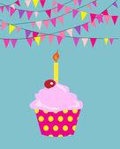 Happy birthday cupcakes.  EPS vector format.