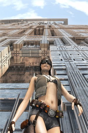 dieselpunk girl science fiction