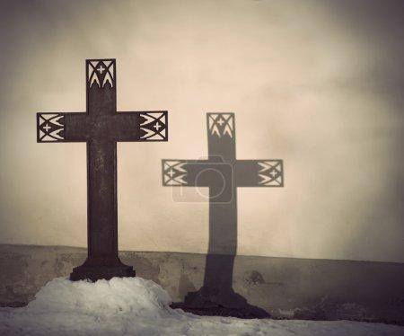 Metal Christian cross