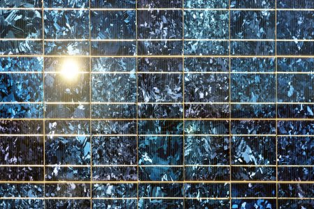 Close up of solar cell