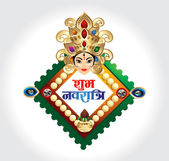 happy navratri celebration background wtih godess durga