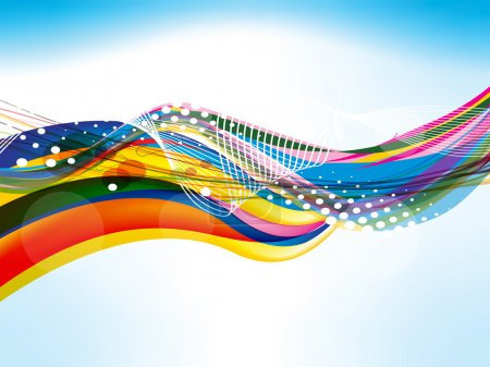 Illustration for Abstract colorful wave background vector illustration - Royalty Free Image