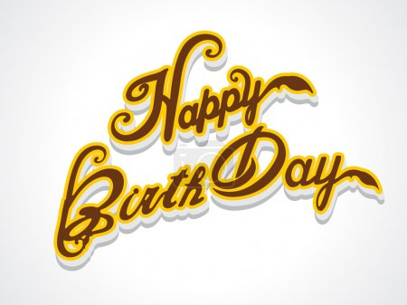 happy birthday text Background vector illustration