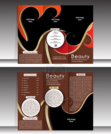 Tri Fold Beauty Parlor Brochure Template