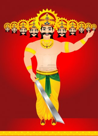 happy vijay dashmi background with king Ravan