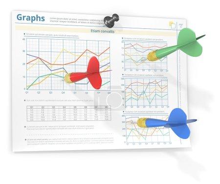 Hitting target. Infographics