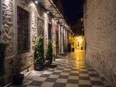 beautiful street at night