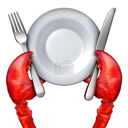 Concept de dîner au homard