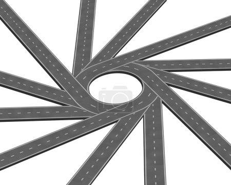 Converging road or highway business metaphor repre...